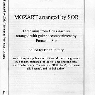 Sor - Mozart: Three Arias